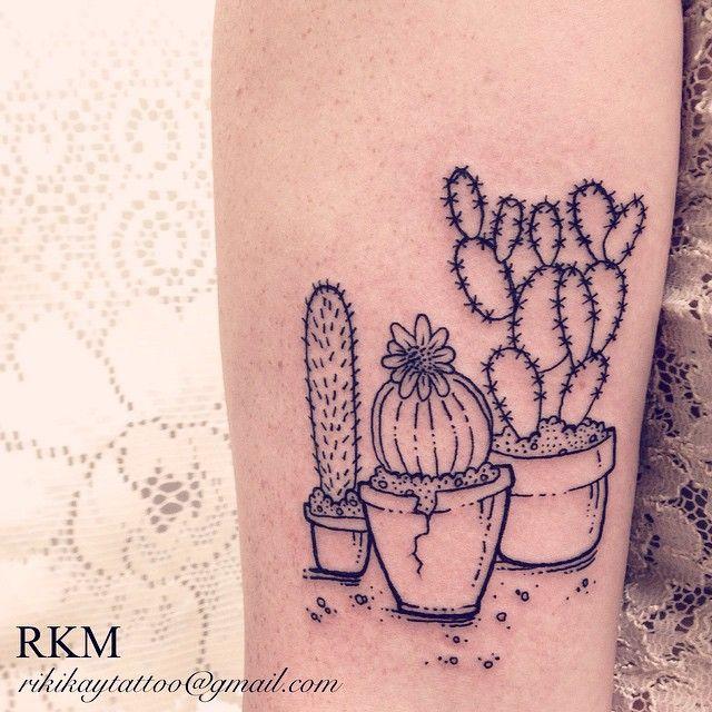 Super fun #cactus tattoo today! by Riki-Kay Middleton, rikikaytattoo@gmail.com Guelph Ontario Canada