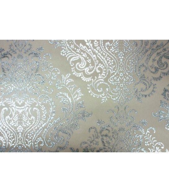 Tapet textil gri argintiu model oriental 125 cm latime Opium Giardini OM1102