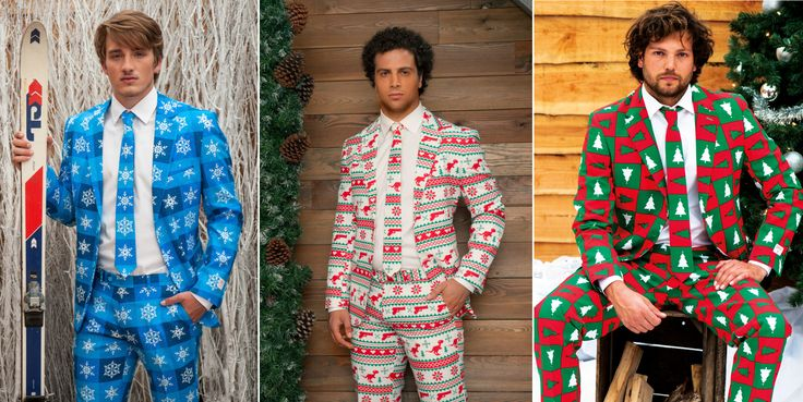 Aleshia Denise I can see you putting everyone in these!! Why Wear An Ugly Christmas Sweater When You Can Wear One Of These Ugly Christmas Suits?