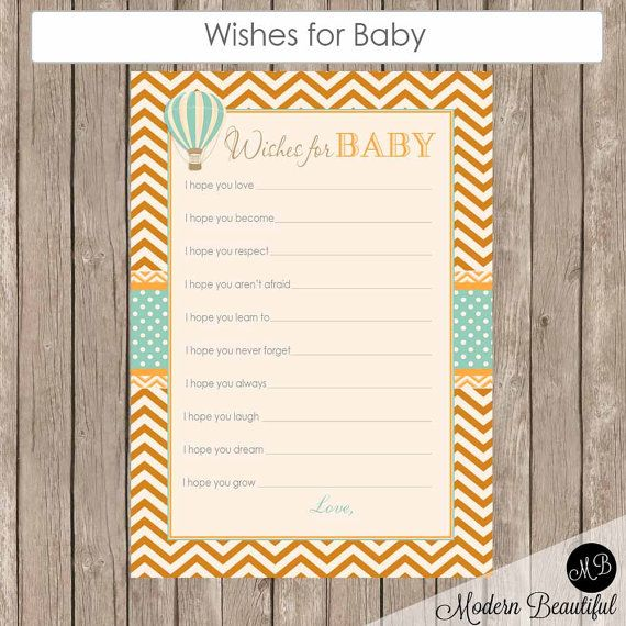 Hot air balloon wishes for baby wishes for baby by ModernBeautiful