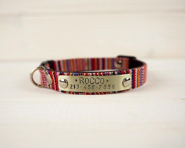 Red Collar, Small Dog collar, Cat Collar, Cat Collar Breakaway, Personalized cat collar, Adjustable  Collar, Breakaway Collar, Custom Collar by VacForPets on Etsy