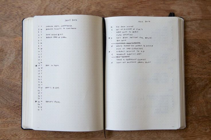"""Monthly Log - Bullet Journal® """"You can use the Calendar Page to record and/or schedule Events and Tasks. Just keep the entries as short as possible, as this page is designed to provide a quick birds-eye view. Be sure to..."""""""