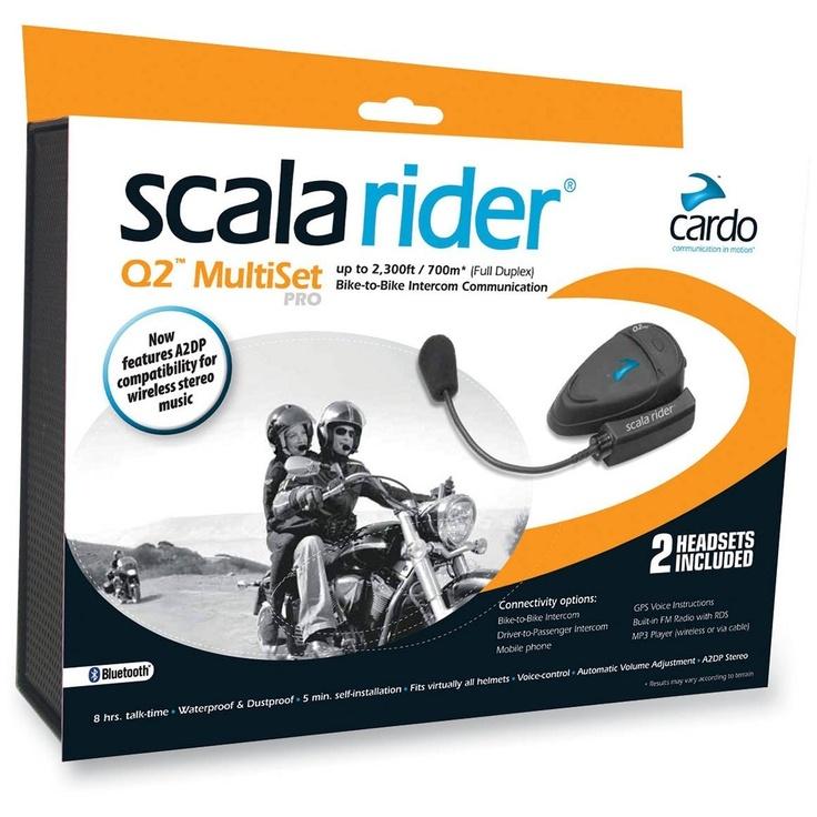 Cardo System Scala Rider Q2 Pro MultiSet Intercom/Communicator