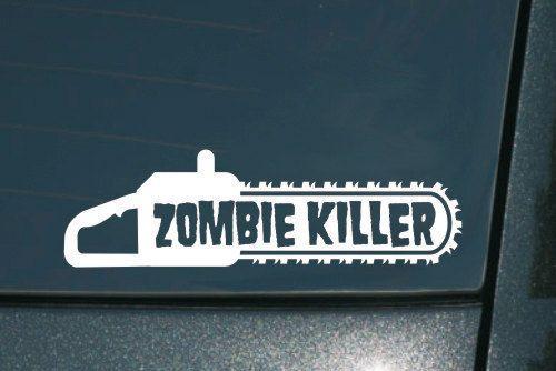 Zombie killer chainsaw 8 inch vinyl decal window by kwsupply 4 99