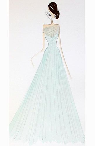 Tiana, Princess and Frog Wedding Dress Design by Ralph Russo