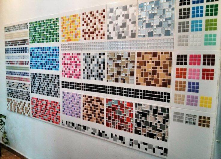 Pastilhas Adesivas  Pensando num DIY pra decorar os banheiros sem quebra-quebra