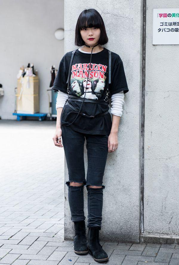 【キャンパス・パパラッチ DAILY】ハーネスでスタイリングにスパイスを効かせた、竹内美紅さん http://soen.tokyo/paparazzi/daily/daily432/