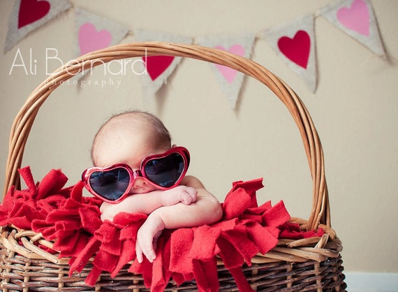 Valentine's Day Photography Prop Burlap Banner by nhayesdesigns, $26.00