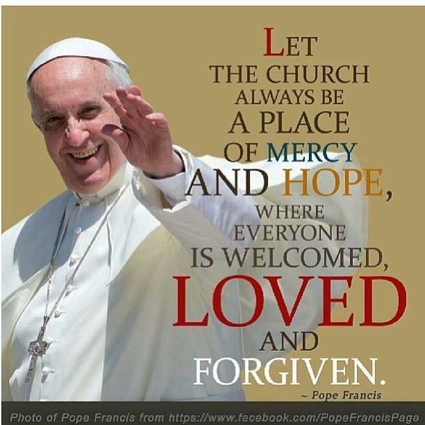 Pope Francis. Today he criticized the church for being obsessed with gay marriage and abortion. It's a start.
