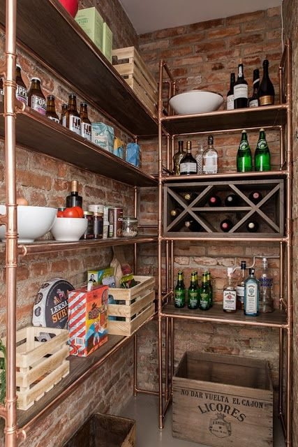 Kitchen Finishes Brick, Polished Cement, Marble, Tile and Wood 8