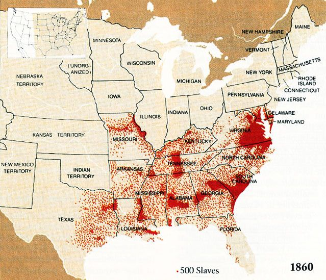 Best Slavery In The Usa Ideas On Pinterest African American - Us slavery map
