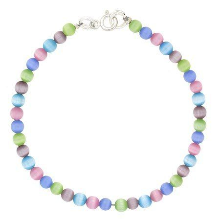 Sterling Silver .925 multi color Cats Eye beaded bead Bracelet SilverSpeck.com. $8.00. Width: 4 millimeters. Length: 7 inches. Weight: 5.1 grams. Save 68% Off!