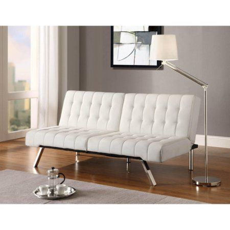 Free Shipping. Buy Emily Convertible Faux Leather Futon, Multiple Colors at Walmart.com