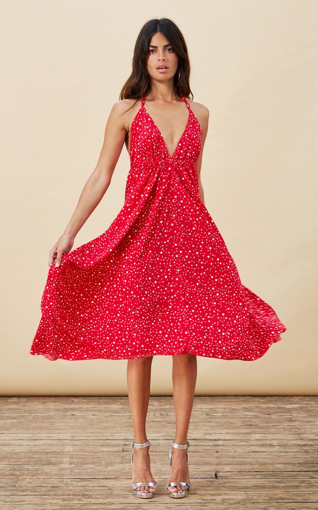 Silkfred red dress painting