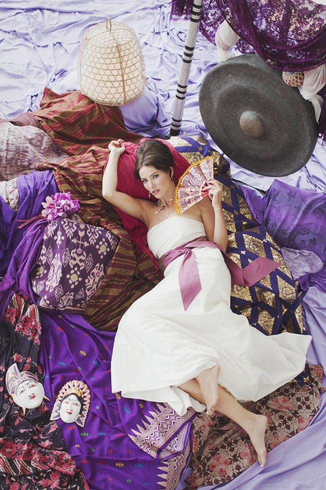 Why not a unique purple palette ? by Tirtha Bridal Uluwatu Bali
