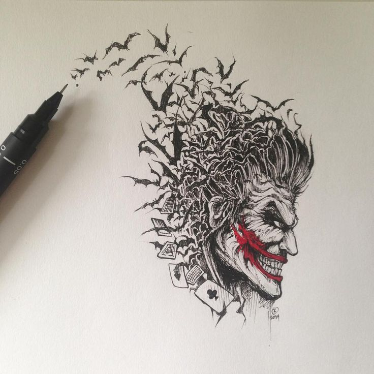 ound this Joker drawing from last year while clearing some space on my desk today.