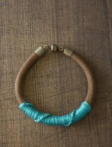This azure blue bracelet.