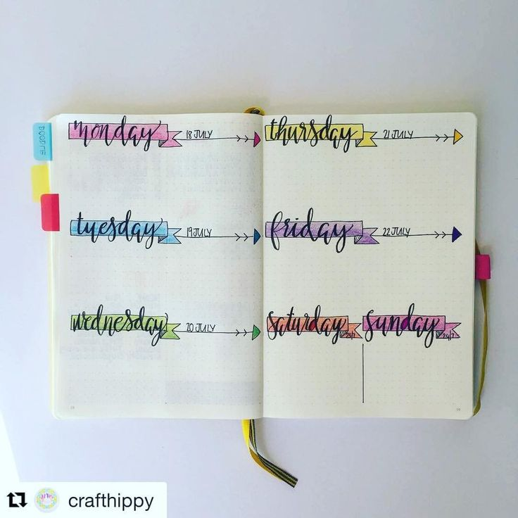 Gorgeous headers for your bullet journal show me your planner
