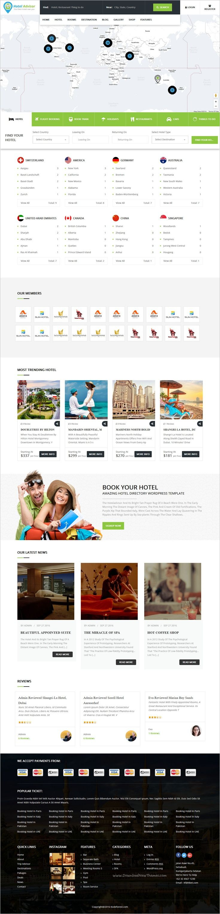 Hotel Advisor is a clean and modern design 6 in 1 #WordPress theme to manage #hotels, hostels, resorts, rooms #reservation with in depth review and booking management system website download now➩  https://themeforest.net/item/hotel-advisor-hotel-management-and-booking-wordpress-theme/18435488?ref=Datasata