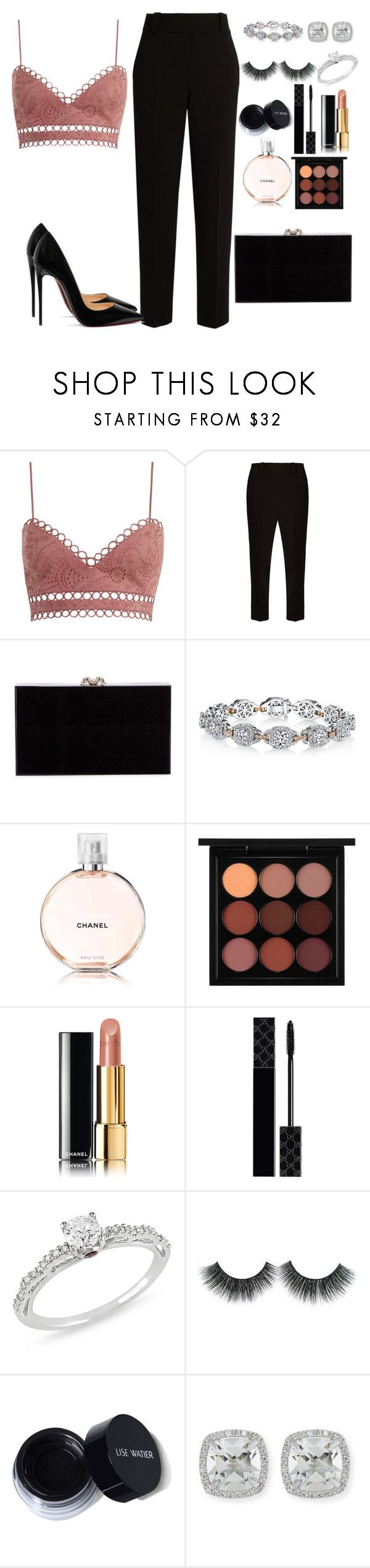 """center of attention once again"" by meli3108 ❤ liked on Polyvore featuring Zimmermann, The Row, Charlotte Olympia, Harry Kotlar, MAC Cosmetics, Chanel, Gucci, Ice, Frederic Sage and Christian Louboutin"