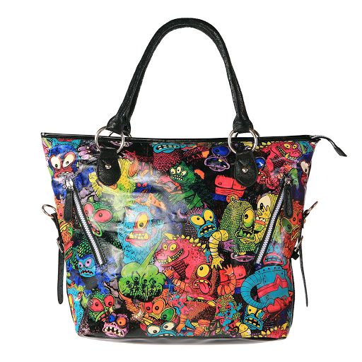 Iron Fist Party Monster Tote Bag, alternative clothing