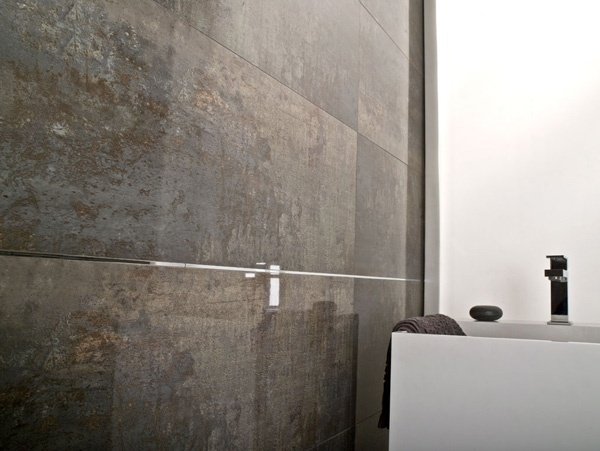 Shine Dark Porcelain Wall Tile Porcelanosa Metal