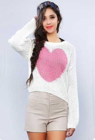 Heart Sweater | Shop Sweaters at Papaya