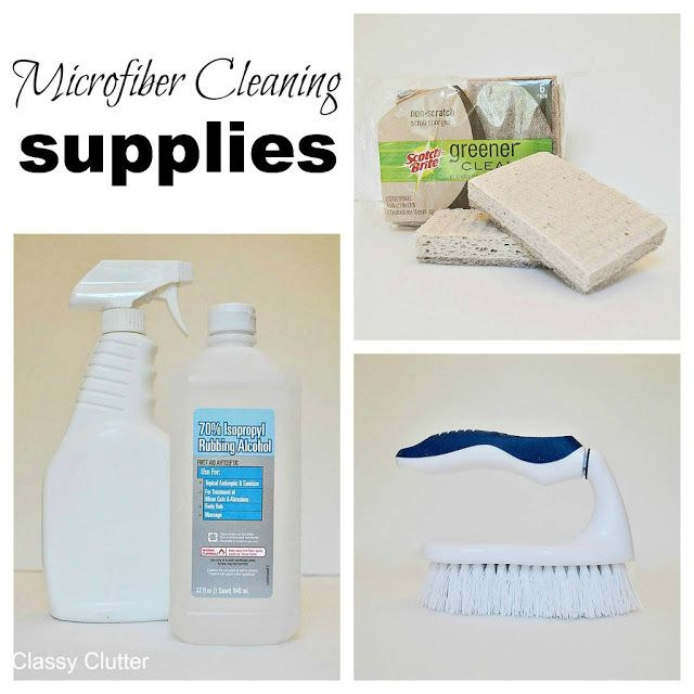 How to clean microfiber with professional results - Classy Clutter