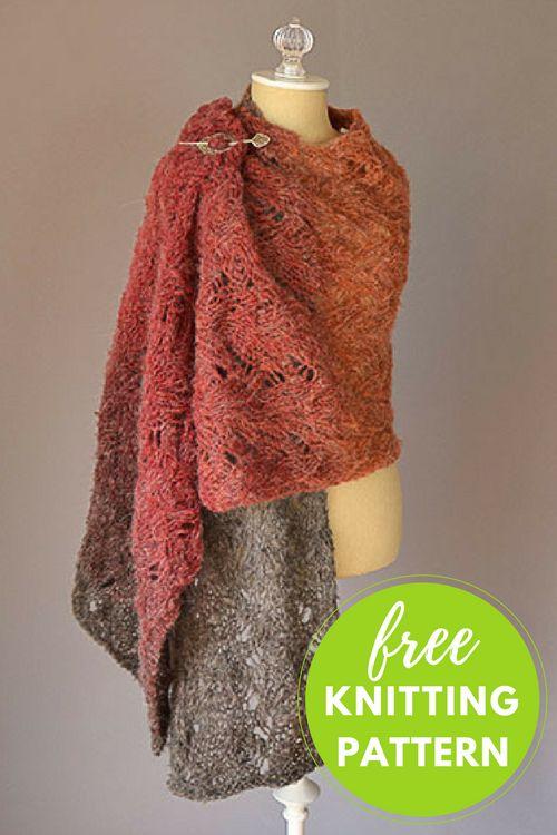 Warmth Stole Free Knitting Pattern using one skein Universal Revolutions yarn