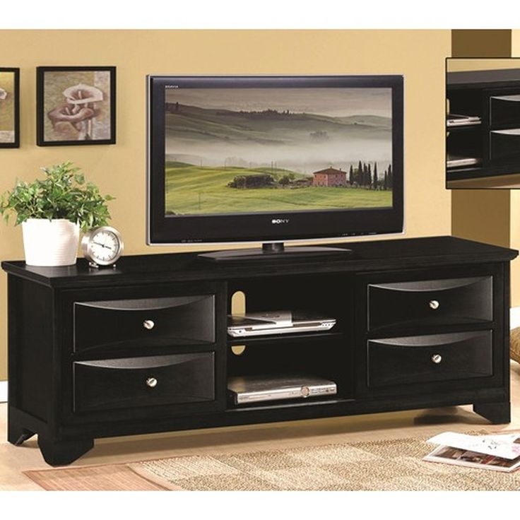 Black Tv Cabinet With Drawers