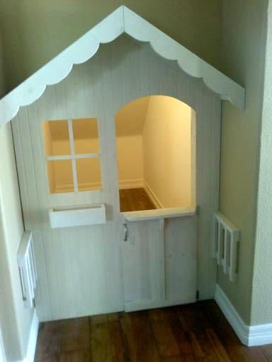 Nook or closet playhouse    this is the cutest Idea!! Makes what is sometimes wasted space a special place for kids!! love it! :)