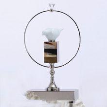 Luxo Moderno Valiosa de Cerâmica e Metal Estilo Europeu Decorativa Artesanato Estatuetas de Pássaros & Miniaturas Decoração Da Sua Casa(China (Mainland))