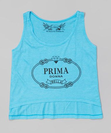 This Turquoise 'Prima Donna Bella' Hi-Low Tank by So Nikki is perfect! #zulilyfinds