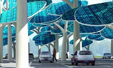 Solar Forest Charging System for Parking Lots