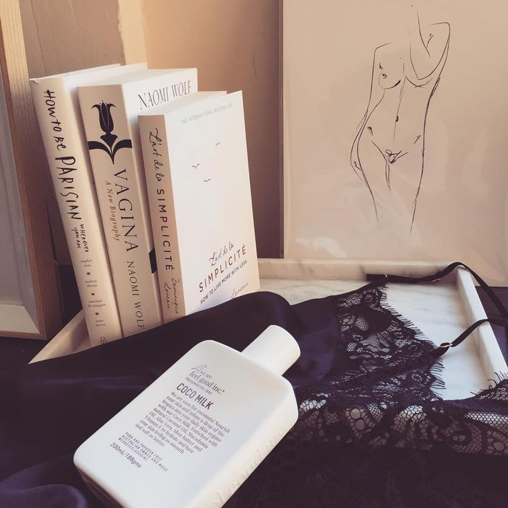_my_skincare_story_ - ✨JUST A FEW OF MY FAVOURITE THINGS✨  @wearefeelgoodinc Coco Milk (my skin absolutely drinks this up) @gooseberryintimates Love Stories Bodysuit  @oliveetoriel La Nu sketch Books by @howtobeparisian, @naomirwolf, @d_loreau1978 ✨✨✨