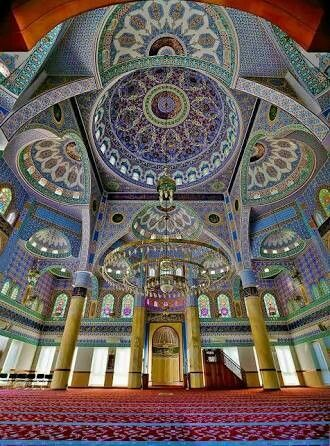 An interior view of Sukh Chayn Mosque, Lahore.