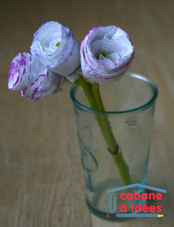Roses en papier sopalin