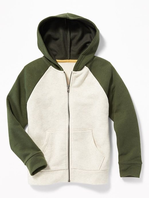 457e6a6f0e19 Color-Block Raglan Zip Hoodie for Boys | Back to School