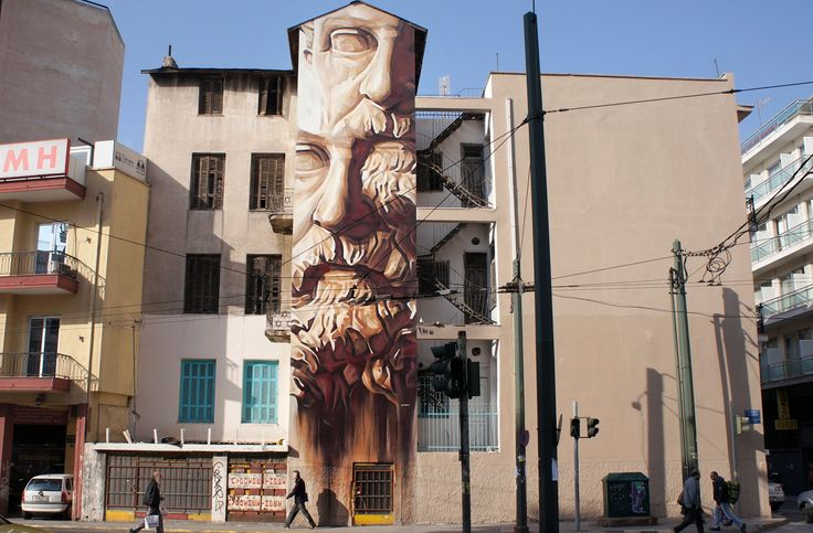 Contemporary graffiti art on the walls of Athens – in pictures