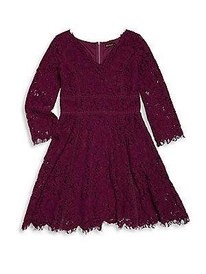 Ella Moss Girl's Gwen Lace Dress