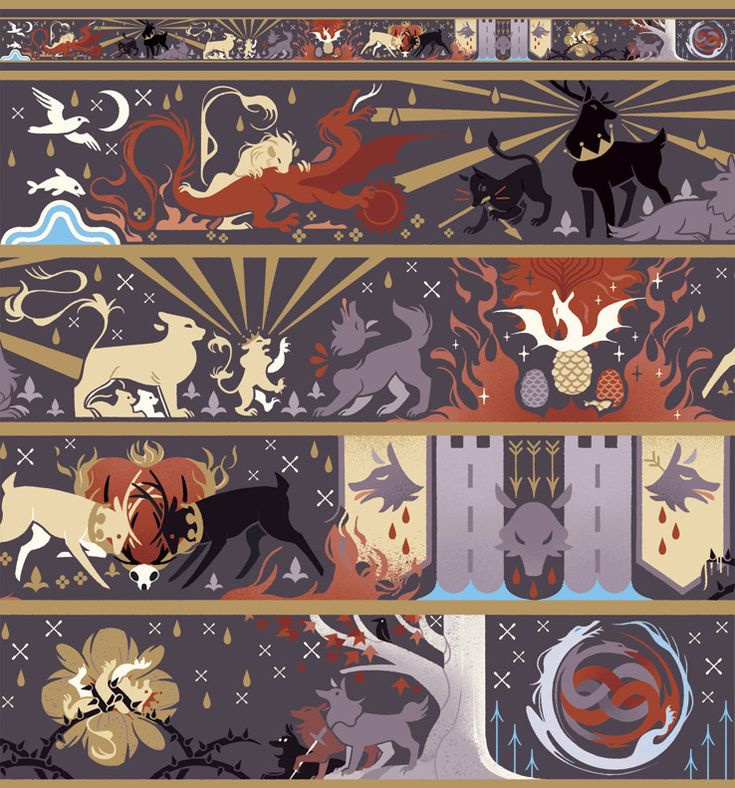 Game of Thrones Fan Art — Rains of Castamere: Awesome Illustration by Viv...