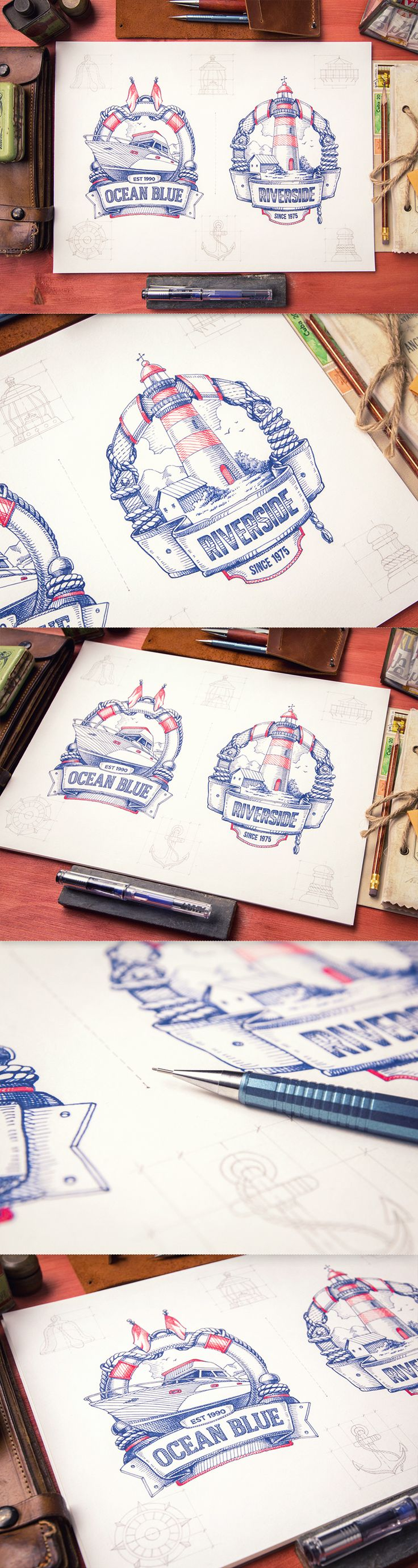 Mike | Creative Mints  This logo has pretty old school illustration and type that always stays classic and lasting.