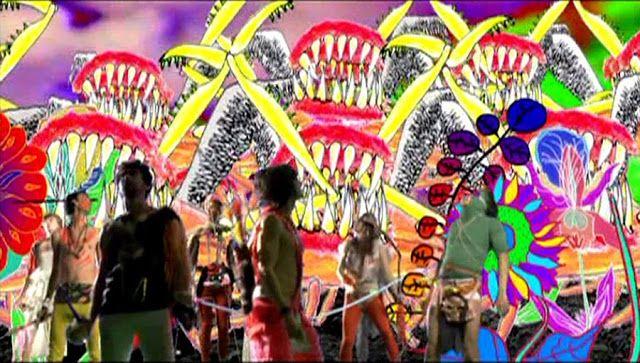 Colores estridentes y dibujos dominan la escena del video
