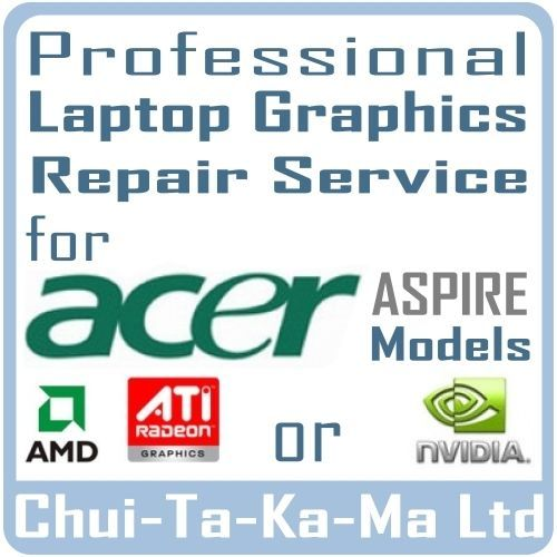 Professional Laptop Graphics Repair Service: Acer Aspire 5520G Laptop Graphics Repair for nVidia VG.8MS06.001 Cards -Warranty