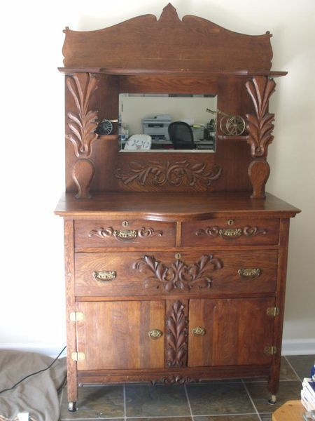 best Antique quarter sawn oak furniture  on Pinterest