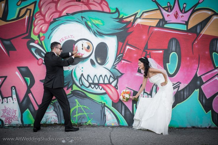 Graffiti Wedding, Wedding idea, funny, smile, Montreal, wedding inspirations. The best selection of inspirational photos created by Alt Wedding Studio Montreal www.altweddingstudio.com Wedding, Weddings, Montreal, Wedding Inspiration & Ideas, Inspirations mariage, idées mariage, Bride, Groom
