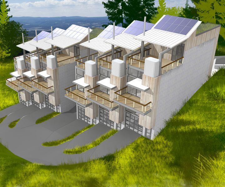 Modern Row House Plans: Modern Row Houses