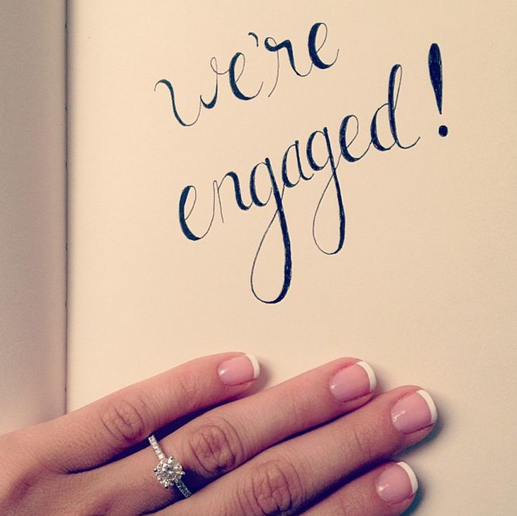 Calligraphy engagement announcement.