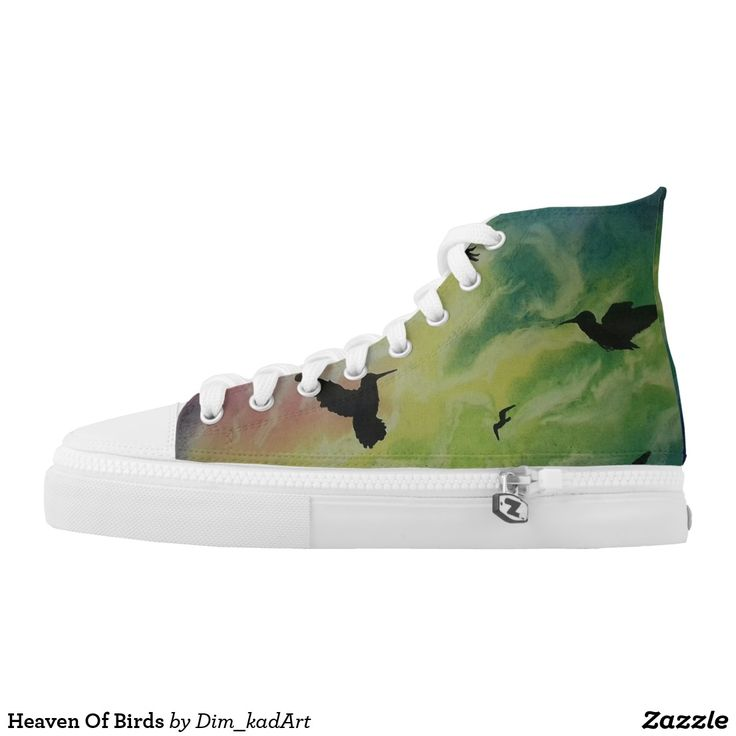 Heaven Of Birds #shoes #printedshoes #sneakers #fashion #ForAll #giftideas