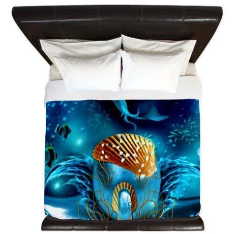 Aquarium King Duvet on CafePress.com